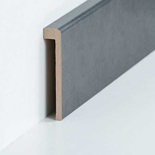 Abdeckleiste für Fliesensockel | Verkleidung bis 85 mm | Profileisten 720.96.13.85.46 Stahl Natur