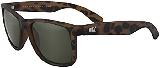 SANDBOX Nomad Sunglasses, Tortoise Matte, Green Smoke Lens