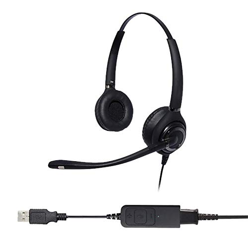Project Telecom Advanced Binaural Noise Cancelling USB Headset | Compatible With Acer Nitro