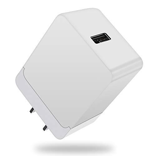 2021年 acアダプター 5v/3a 9v/2a 12v/1.5a 18W quick charge 3.0 アダプター iPhone/iPad/Androidなどに対応 USBコンセント PSE認証済み/QC3.0急速/自動電流検測 usb急速PD充電器