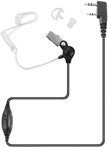 Arama Two Way Radio Earpiece with Mic VOX PTT Walkie Talkie 2 Pin Surveillance Headset with product image