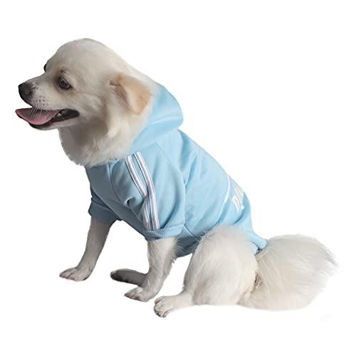 QiCheng&LYS Dog Hoodie,Jersey Perros,Sudadera Perro Ropa ParaCachorros, Sudadera para Chihuahua Cómodo Y Cálido (Azul, Medium)
