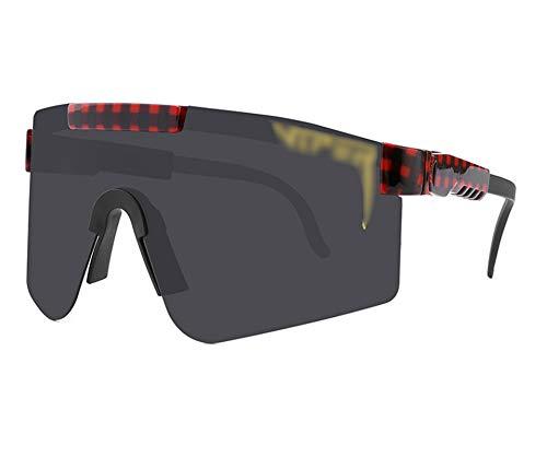 ZHMIAO Gafas de Sol Deportivas polarizadas UV400 Protección Gafas de Ciclismo Gafas de Bicicleta Gafas TR90 Gafas Black