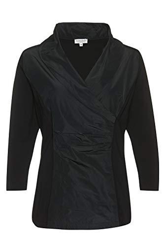 GINA LAURA Damen Blusenshirt 3/4-Arm schwarz schwarz S 100949 10-S