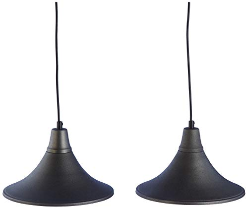 Homemania HOMAX_4267 - Lámpara colgante Ramus gris oscuro de metal, 56 x 25 x 70 cm