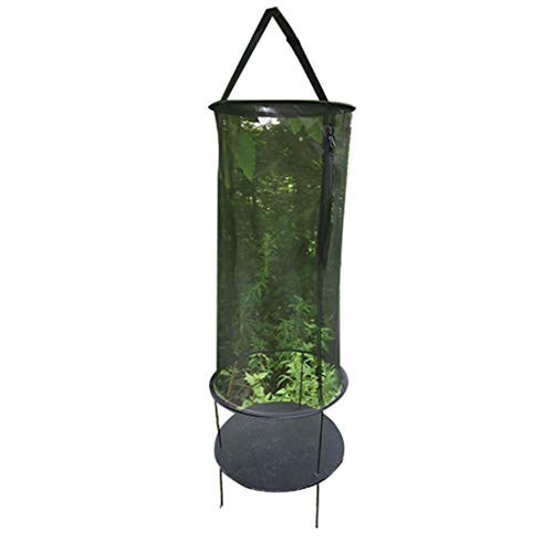 MYYINGELE ButterflyInsect and Butterfly Habitat Cage Terrarium Butterfly Habitat Insect Cage - Round Pop Up Mesh Net for Kids, Black