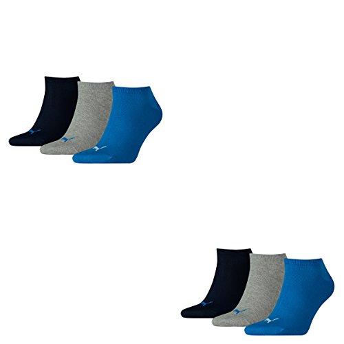 6 Paar PUMA Sneakersocken, Sportlifestyle im Vorteilspack, Blue/Grey Mélange, 39/42
