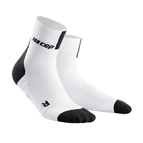 CEP – SHORT SOCKS 3.0 für Damen | Sportsocken für mehr Power und Ausdauer in weiß / grau in Größe III