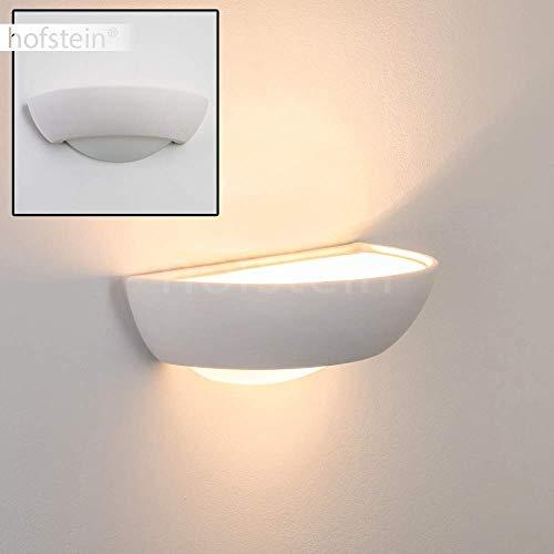 Wandlampe Stronco aus Keramik in Weiß, Wandleuchte mit Up & Down-Effekt, 1 x G9 - Fassung, max. 35 Watt, Innenwandleuchte mit handelsüblichen Farben bemalbar, geeignet für LED Leuchtmittel