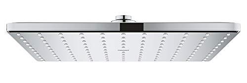 GROHE Rainshower Mono 310 Cube | Brausen- und Duschsysteme - Kopfbrause, Kugelgelenk mit Drehwinkel ± 10° | chrom | 26567000