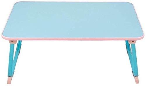 KQYAN Azul Mesa Plegable del Ordenador, Lazy Tabla del Ordenador portátil Puede subirse y bajarse Multifunctiol Plegable de Aprendizaje móvil Cama de la Tabla Facil de Instalar