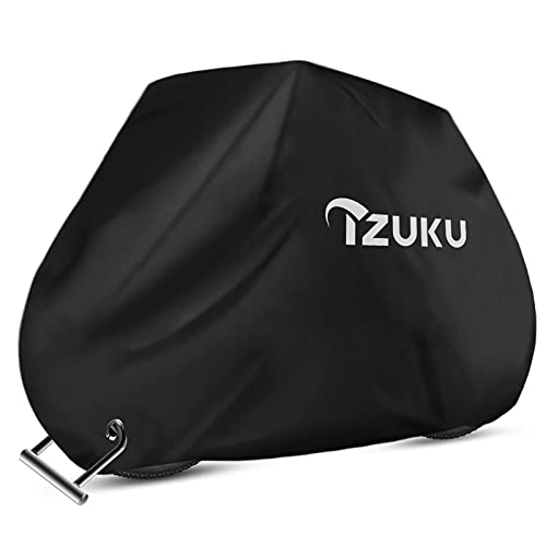 IZUKU Housse de Vélo Étanche Housse Velo Exterieur Protection Abri Vélo pour 2 Vélos Anti-UV Anti-poussière Anti-Guano avec 1 Sac de Transport190 x 72 x 110cm