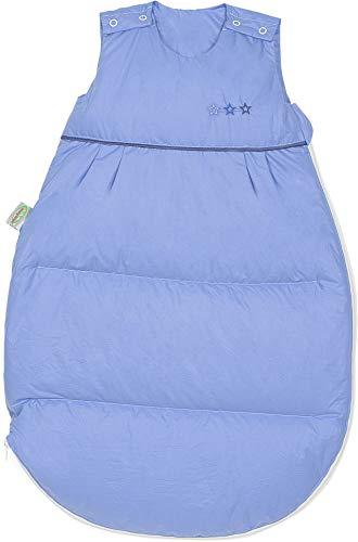 Set Odenwälder Daunen-Schlafsack mit Stoffwindel von Kinderhaus Blaubär/Baby Winterschlafsack mit Premiumdaunen & atmungsaktiv & längenverstellbar, Größe:110, Design:blau