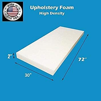 4 H X 24 W X 72 L FoamTouch Upholstery Foam Cushion High Density Made In USA