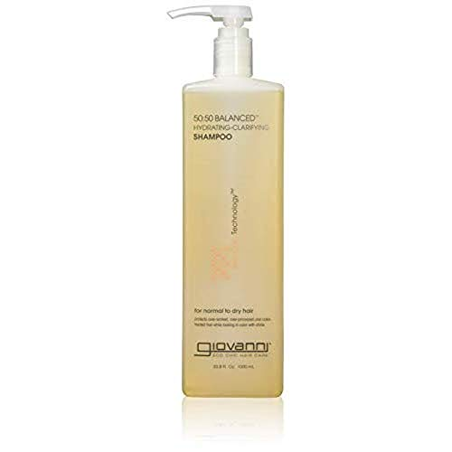 GIOVANNI 50:50 Balanced Hydrating Clarifying Shampoo, 33.8 oz. Leaves Hair pH Balanced & Clean, Ideal for Over-Processed, Stressed Hair, Can Use Daily, Sulfate Free, Paraben Free (Pack of 1)
