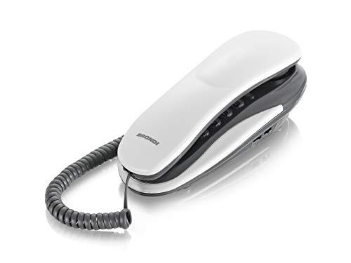 Brondi Kenoby Telefono Fisso, Bianco/Grigio