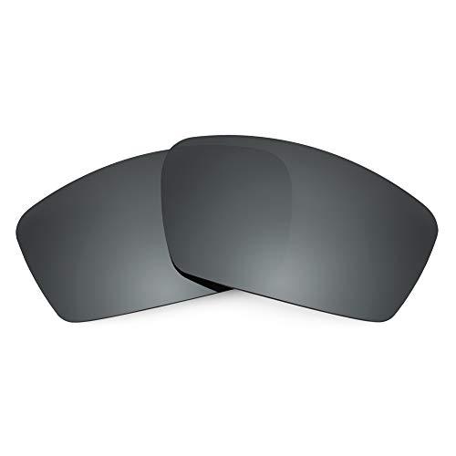 Revant REVANT Ersatzgläser Kompatibel mit Oakley Square Whisker, Polarisiert, Schwarz Chrome MirrorShield