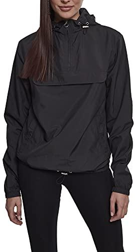 Urban Classics Damen Übergangs-Jacke Ladies Basic Pull-Over Jacket ,Schwarz (Black 00007) ,XS