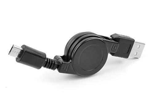 DURAGADGET Cable MicroUSB Retráctil Compatible con Portátil Lenovo THINKBOOK 15 Gen 2, Lenovo Yoga 530-14IKB Pasar Sus Datos Al PC!