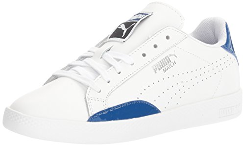 Puma Women's Match Basic Sneakers in White and True Blue