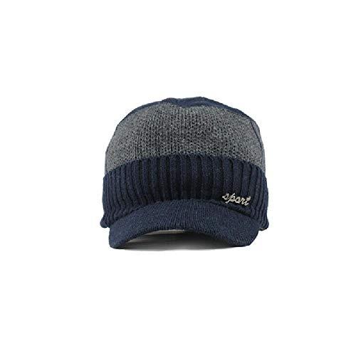 Sombrero Gorro de Lana de Punto Winter Plus Gorro de Terciopelo cálido para Hombres Sombrero al Aire Libre