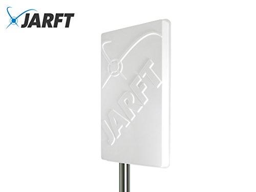 JARFT J1800 LTE Antenne inkl. 5m Twin Antennenkabel - 17dBi, 1800MHz - Leistungsstarke 4G Richtantenne passend für Diverse LTE Router