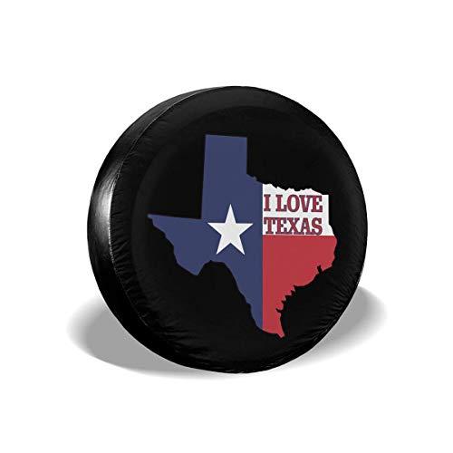 Enoqunt Ich Liebe Texas Texan Flag vervangende banden, wiel-afdekking past Jeap RV SUV en vele voertuigen