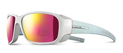Julbo MONTEROSA Sonnenbrille Damen, Weiß Brillant/Mintblau matt, FR: M (Größe Hersteller: M)