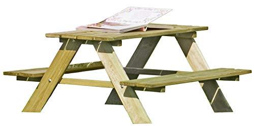 Gartenpirat Table de Pique-Nique pour Enfants en Bois avec bancs intégrés Jardin