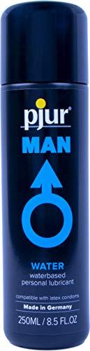 pjur MAN BASIC WATERGLIDE - Gleitgel für Männer auf Wasserbasis - klebt & schmiert nicht - perfekt auch für Erotik-Toys - 1er Pack (1 x 250 ml)