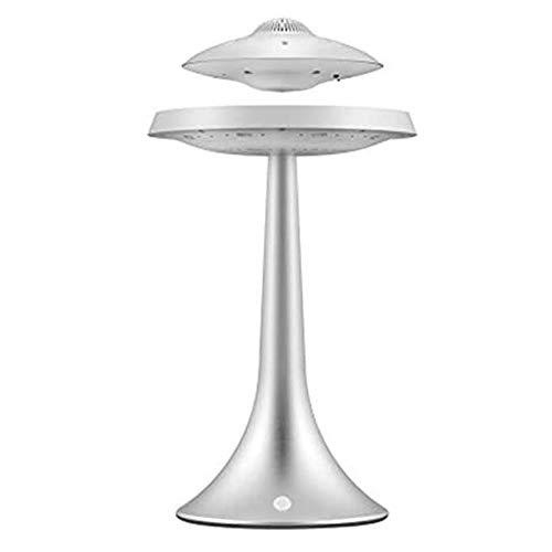 LLSS Magnetischer Leviting-Lautsprecher, Tragbare Bluetooth-Lautsprecher, LED-Tischlampe, Stereo-Tiefbass, Drahtlose Gebühr, 360-Grad-Rotation, Für Home/Büro-Dekor, Elektronische Geschenke Für Männer