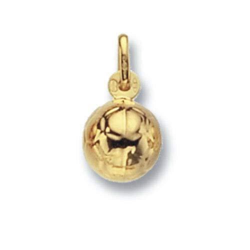 London Jewellery Quarter Pequeño Fútbol Colgante Oro Amarillo Contraste Británico Hecho