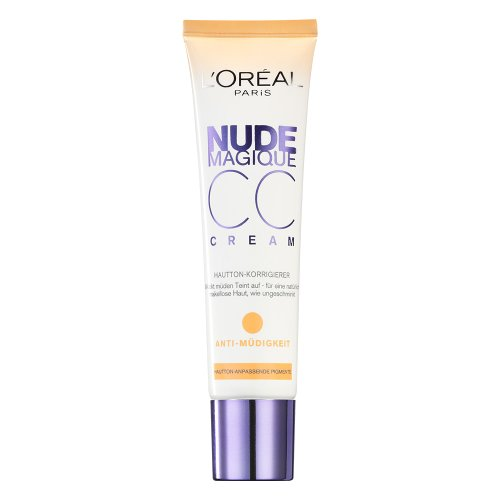 L\'Oréal Paris Gesichts Make-up Nude Magique CC Cream Anti-Müdigkeit, 1er Pack