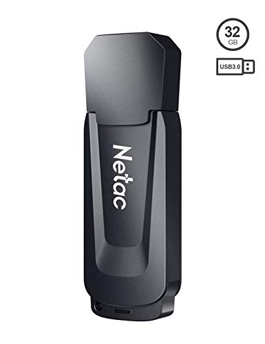 Netac 32GB USB 3.0 Flash Drive, USB Stick Read Speeds up to 90MB/s, Thumb Drive in Black, Memory Stick for PC/Laptop/External Storage Data, Jump Drive, Photo Stick Digital for Photos/Videos - U189 Computers Drives Features Flash USB