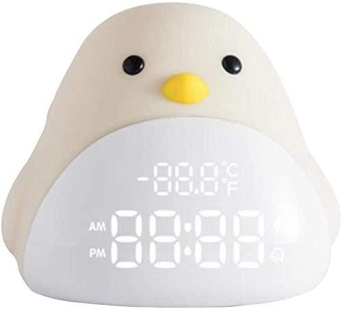Creatieve digitale wekker slaapkamer nachtkastje led klein nachtlampje usb mini nachtlampje kinderwekker 0,5 w / geel voor kinderen, bedlampje cadeau