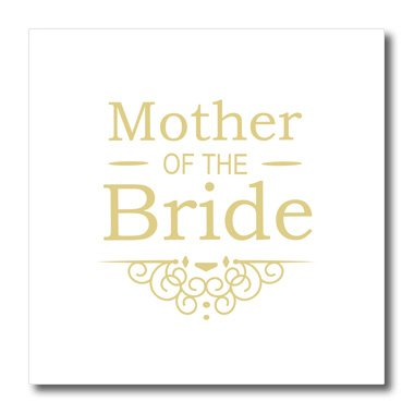 3dRose Mother of The Bride for Gold Wedding-Part of Matching Marriage Party Ceremony Set-Classy Swirls-Iron On Heat Transfer, 10-inch, for White Material (ht_151565_3)