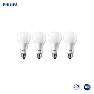 Philips LED Dimmable A21 Soft White Light Bulb with Warm Glow Effect