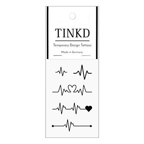 TINKD Herzschlag Tattoo - Temporary Tattoo Heartbeat - Herz - Made in Germany