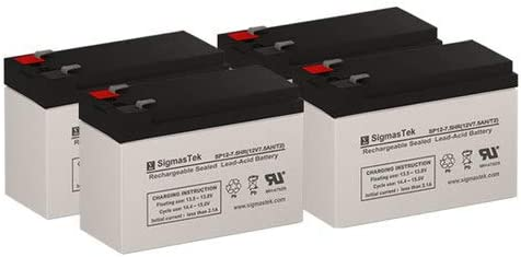 Replacement Batteries for CyberPower PP1500-T4 Set of 4