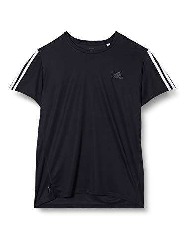 adidas Run IT tee 3S M Camiseta de Manga Corta, Hombre, Black/White, S