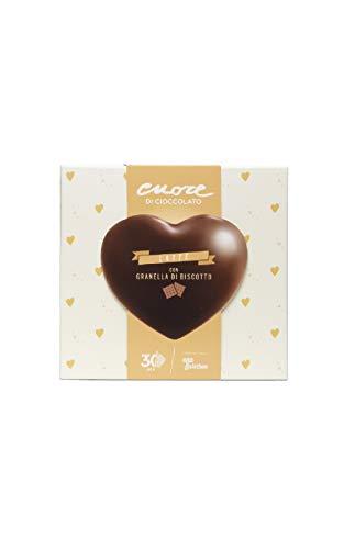 Cuore di cioccolato Telethon al latte con granella di biscotto. Il dono della generosità