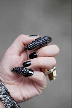 Beauty Shopping VANTOBEST 5Pcs Gothic Punk Style Eagle Claw False Nails Ring Set Jewelry Retro Crystal
