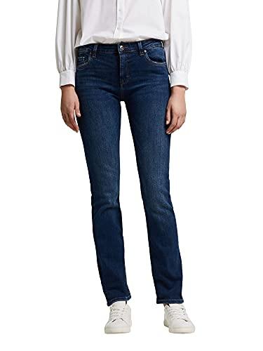 ESPRIT Women Stretch-Denim Jeans, 901/BLUE Dark WASH-New Version, 28W / 30L