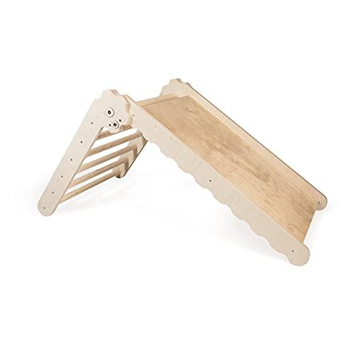 MAMOI Triangle Gym Dreieck v.2 für Kinder Modernes | Klettergerüst Indoor Kinder minimalistisches Design | Nachhaltig Kletterdreieck für Kleinkinder aus Holz | 100{cdd9214e290a2aafb69c227ba7f19ca88f5aea9e1cc8165bf160cee686401ea7} ECO | Made in EU