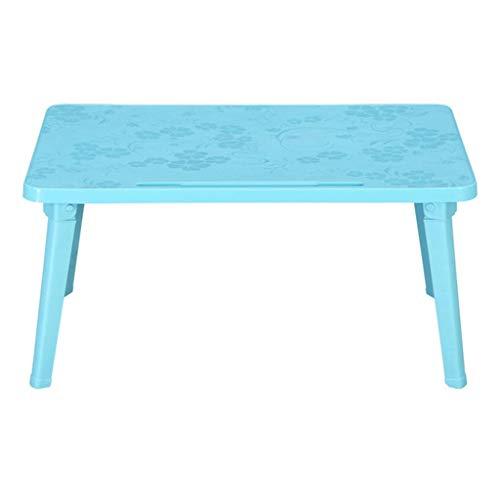 Klaptafel, salontafel, bed, bureau, laptop, bureau, kunststof, klaptafel, bed, slaapzaal, luifel, draagbare laptop, schrijftafel voor kinderen (kleur: zwart, maat: 60 * 40 * 29 cm) 60*40*29cm Meerblauw