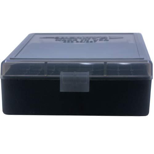 BERRY S Plastic Ammo Box, Smoke Black 100 Round 38 357 (1)