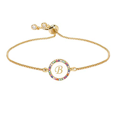 26 Letters Pull Shell Bracelet Disc Bracelet Peach Heart Color Women's Bracelet Bracelets Jewelry & Watches For Woman Valentine Easter Gift