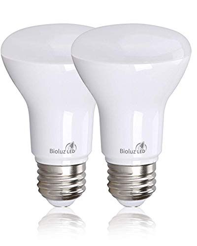 Bioluz LED BR20 Dimmable LED Light Bulbs 2 Pack - E26 LED Bulb 7W=50W Dimmable LED Light Bulbs Replacement for Halogen & Incandescent Lights - 2700K LED Bulb LED Flood Light Bulbs Indoor/Outdoor