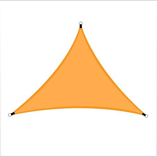 TOPCL Toldo triangular con bloqueo UV para patio al aire libre, jardín, a prueba de lluvia, al sol y a prueba de rayos UV, toldo impermeable, gris