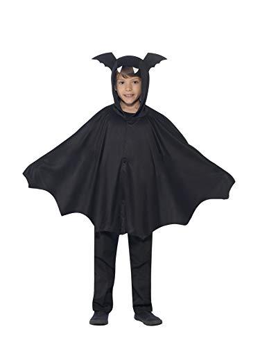 Smiffy's capa de Murciélago para niños de 4 a 9 años, colo negro, Talla M (44324SM)
